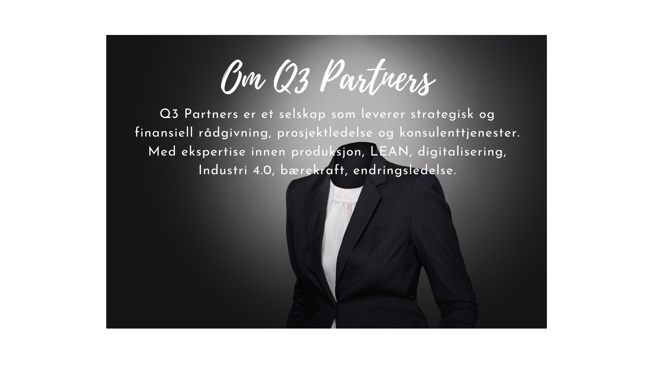 Veiskilt Om Q3 Partners Simplexity Basadur Applied Creativity strategi økonomisk rådgivning